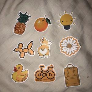 Other - Orange VSCO Stickers 🍊